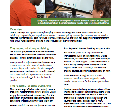 AgShare impact story 3: Building researchers' capacity to publish in high-impact journals