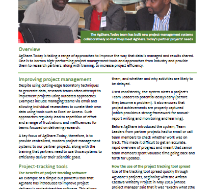 AgShare impact story 4: Building project-management capacity among researchers