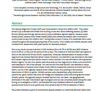 CDP: a review of 10 years of research (Kenya: chapter 4 of 8)