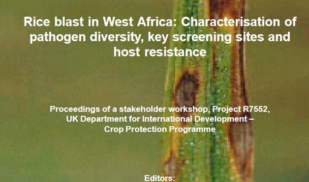 Rice blast in West Africa: characterisation of pathogen diversity, key screening sites and host resistance