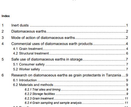 Diatomaceous earths as grain protectants in Tanzania