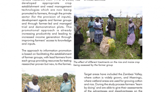 Promoting crop and weed management technologies to farmers in Zimbabwe